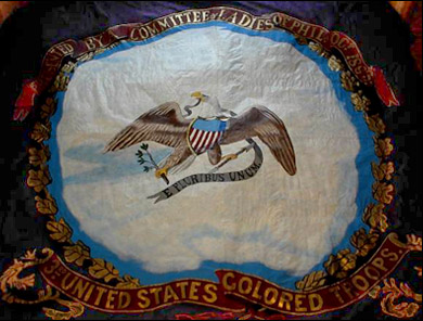 The 3rd United States Colored Troops - Regimental Flag Back