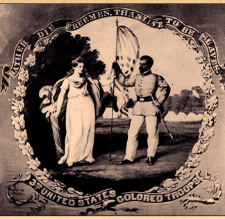 The 3rd United States Colored Troops - Regimental Flag Front